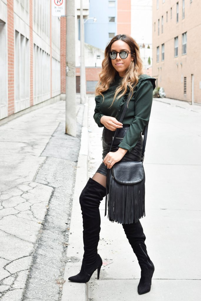 faux leather skirts
