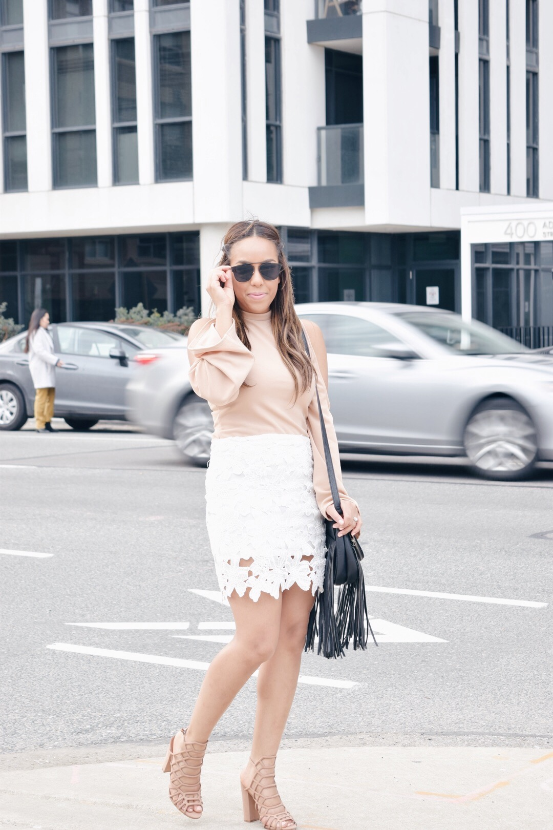 white and nude outfits