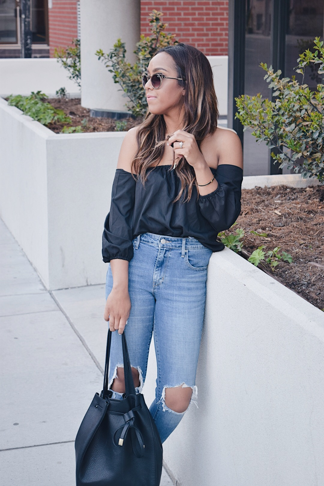 Fashion Blogger Lauren Sheriff Wearing Levi's from ShopBop