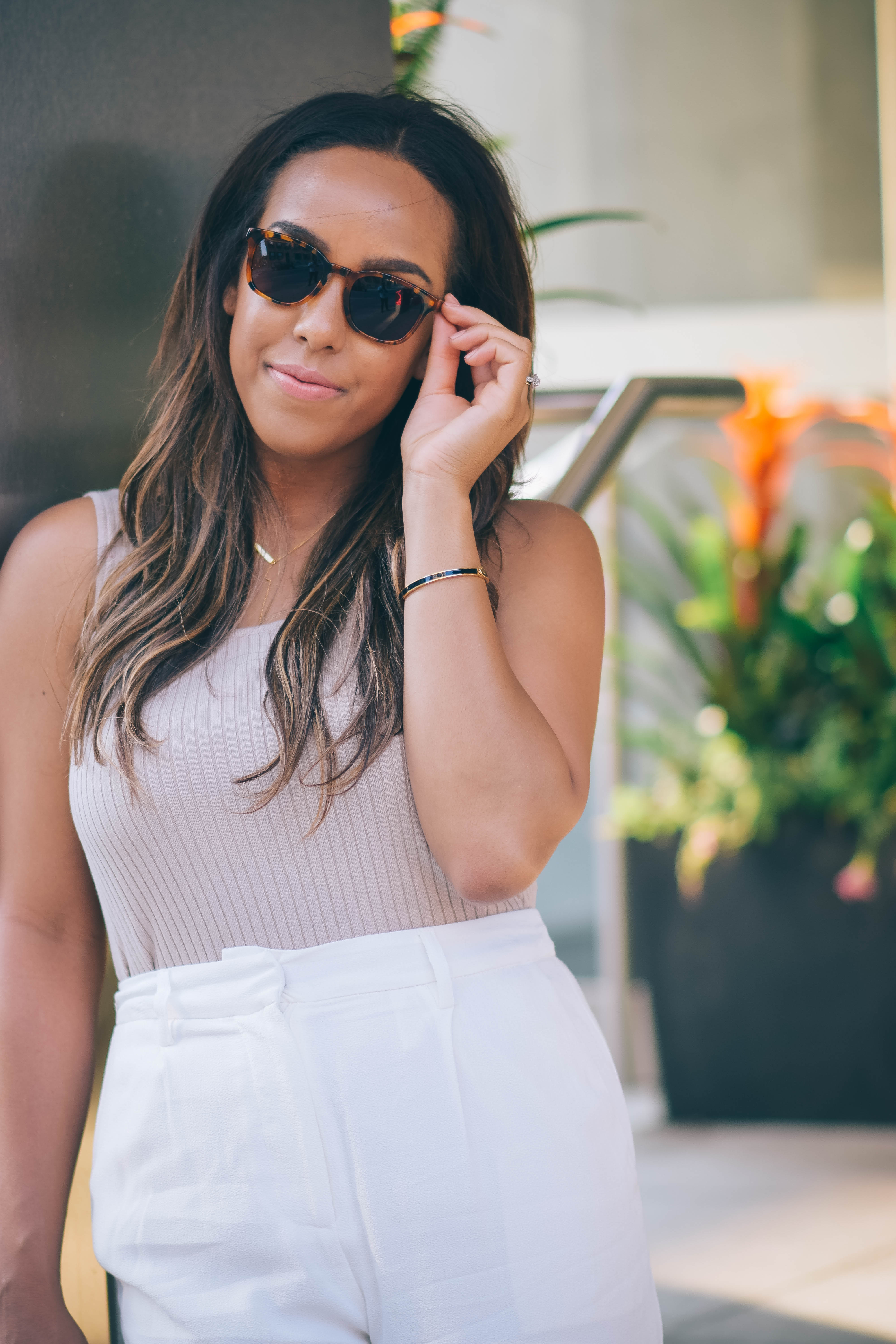Fashion Blogger Lauren Sheriff in Made Eyewear Sunglasses and Mendocino