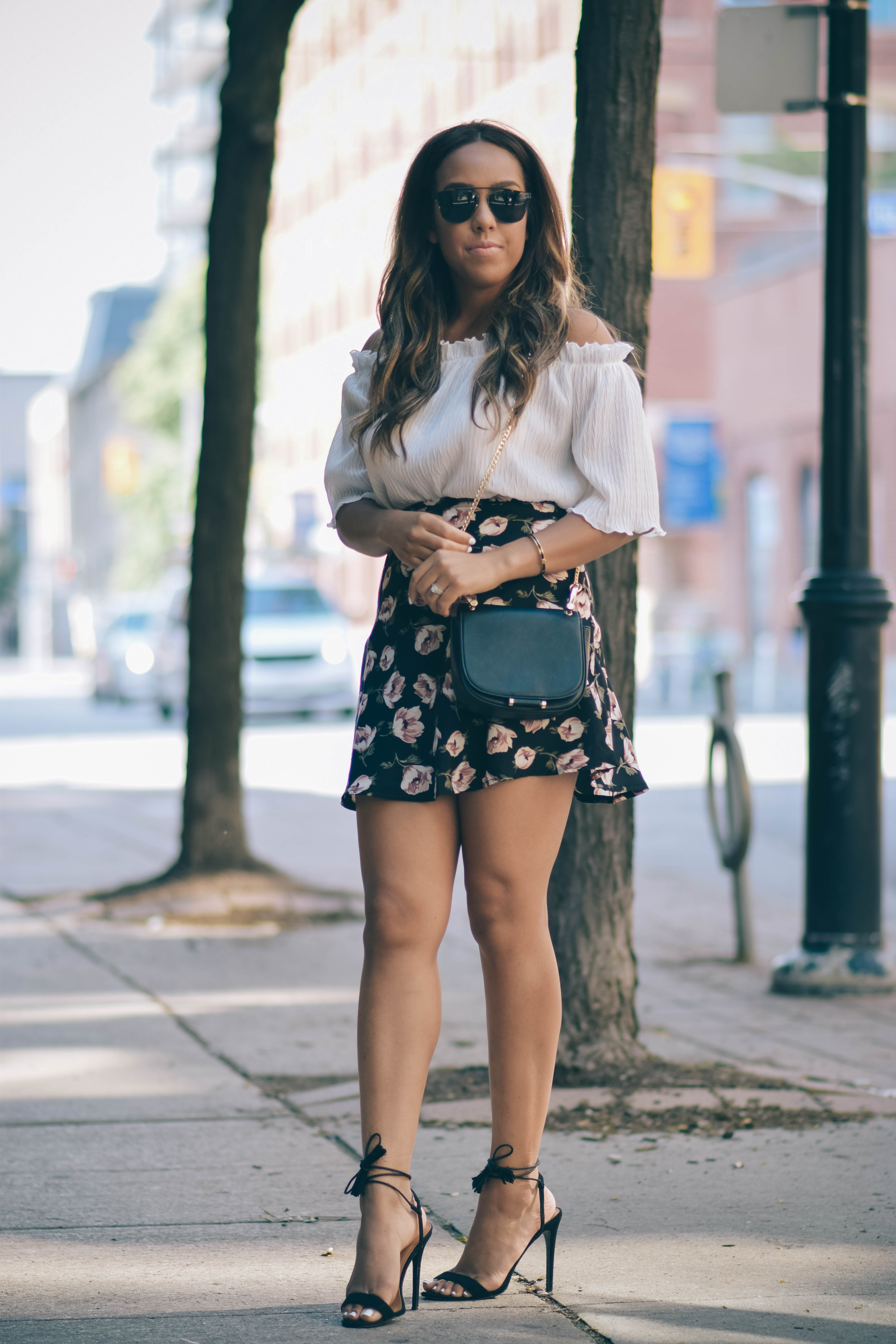 floral skirt missguided