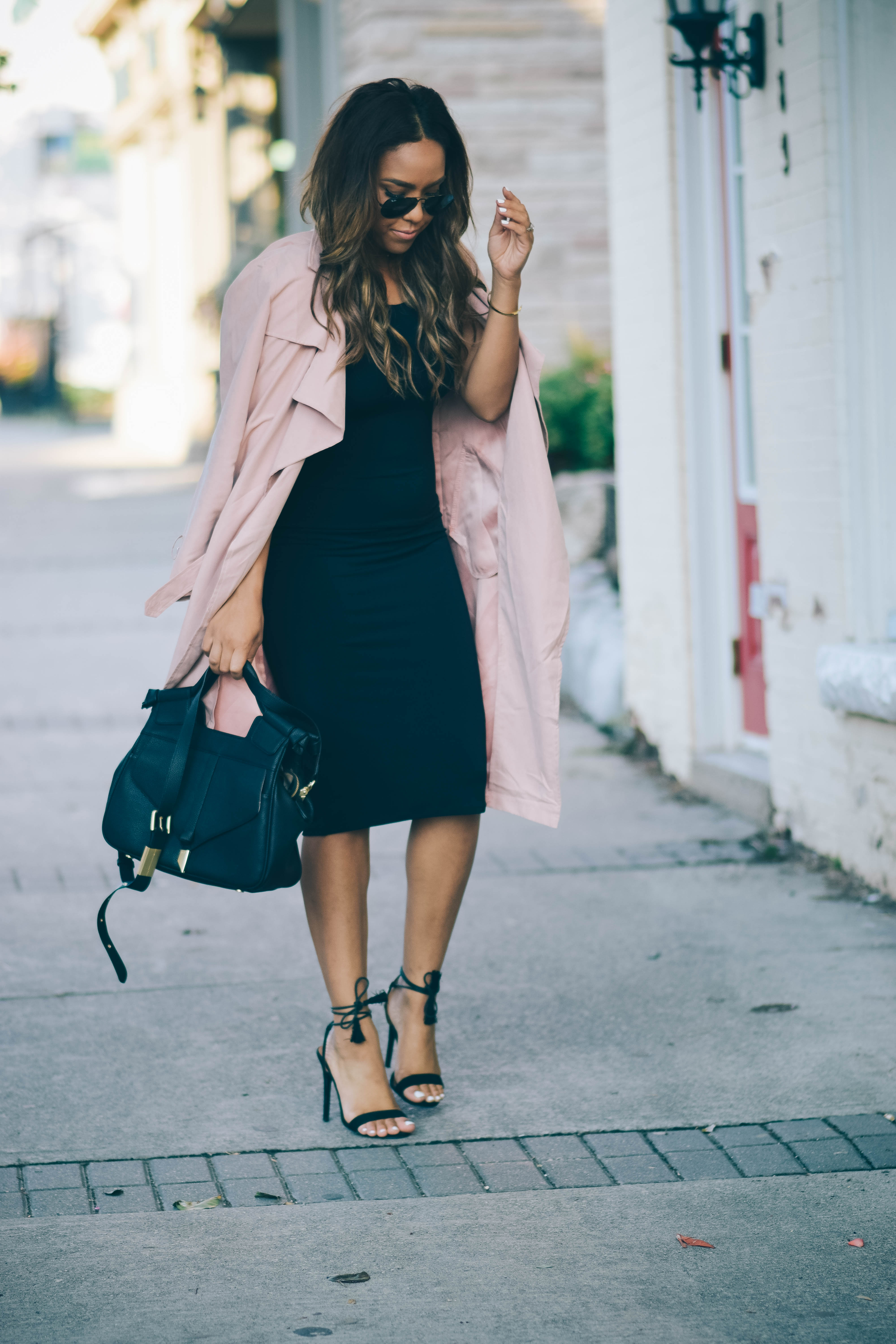 draped trench coats