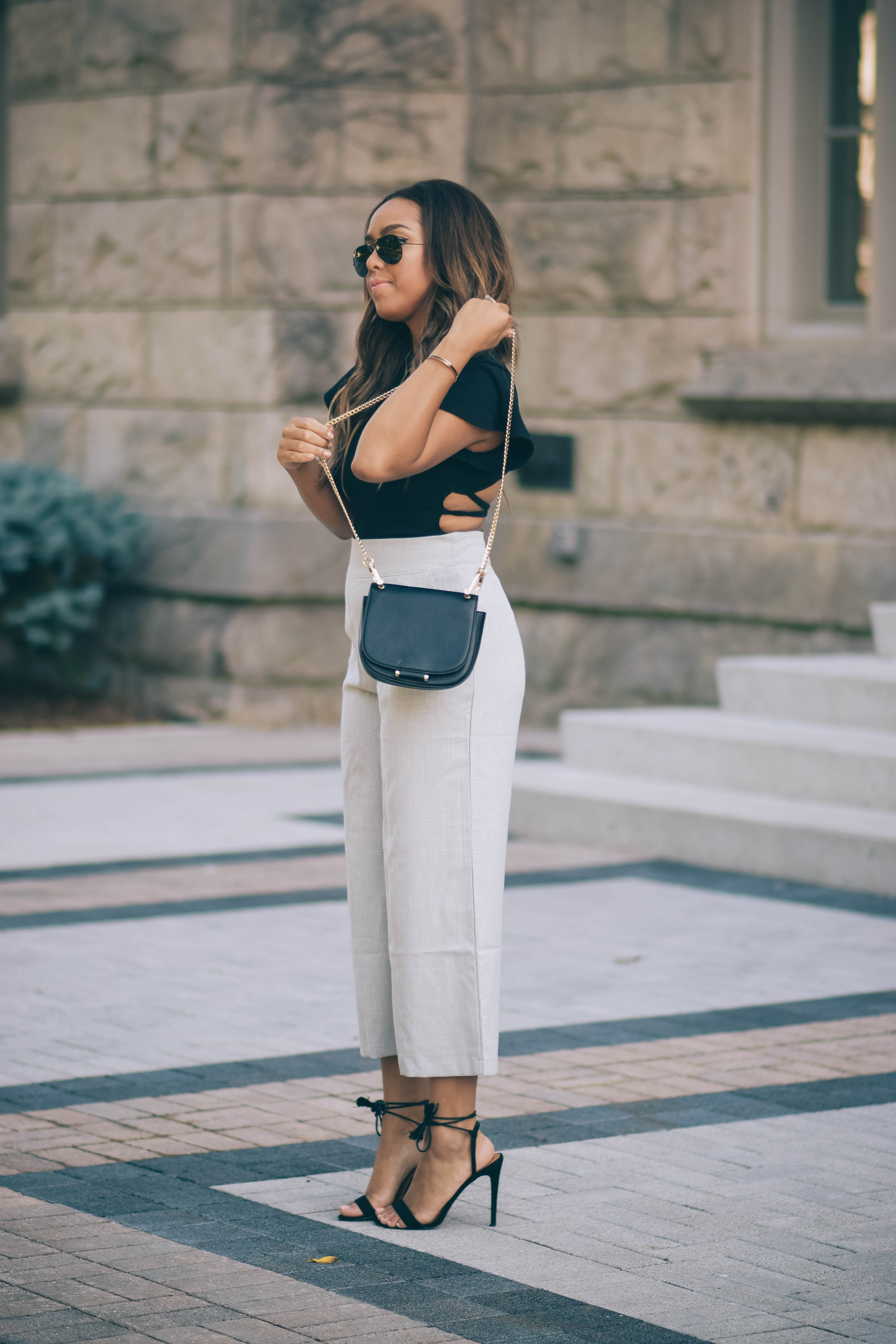 Two Ways to Style Wide Leg Trousers